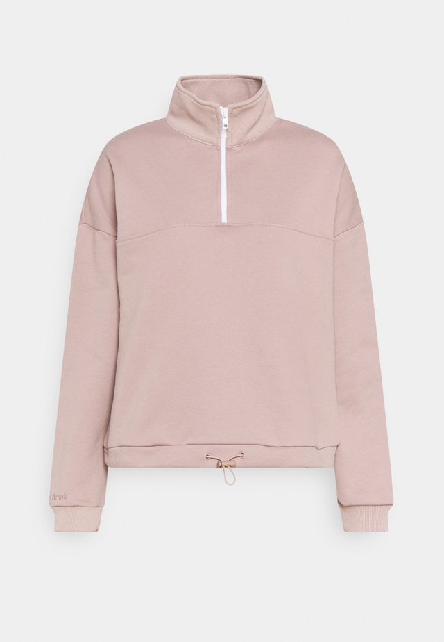 ZIP JUMPER - Sweatshirt - taupe
