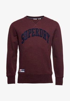 VARSITY ARCH - Sweater - rich deep burgundy