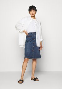Kaffe - KAEARLENA SKIRT - A-line skirt - blue denim - 1
