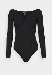 KNOT FRONT BODY - T-shirt à manches longues - black