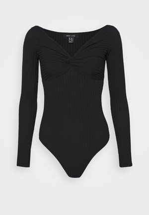 KNOT FRONT BODY - Long sleeved top - black