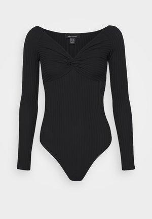 KNOT FRONT BODY - Långärmad tröja - black