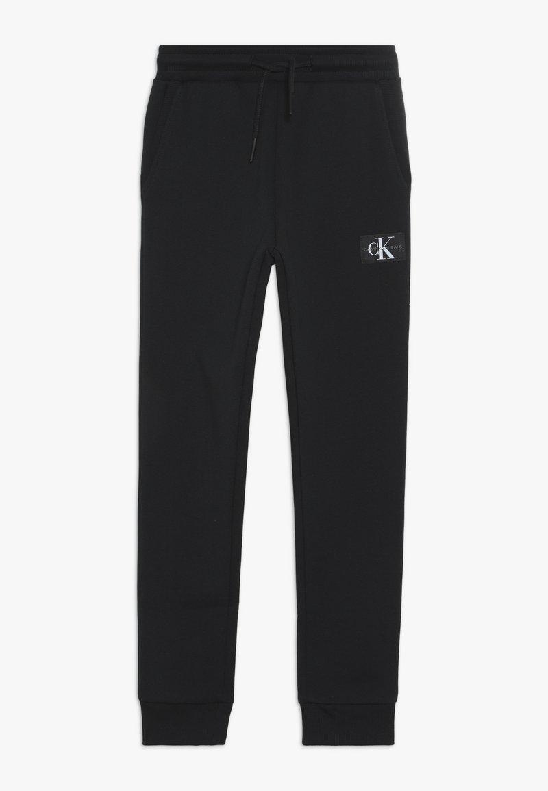 Calvin Klein Jeans - MONOGRAM SWEATPANTS - Teplákové kalhoty - black