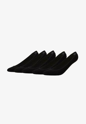 INVISIBLE SOCKS 5 PACK - Trainer socks - black