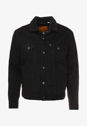 TYPE 3 SHERPA TRUCKER - Lett jakke - back denim