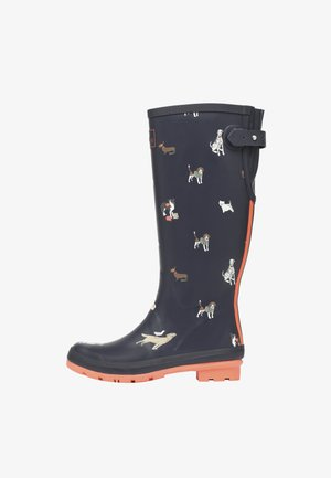 WELLY PRINT - Kumisaappaat - navy beach dogs