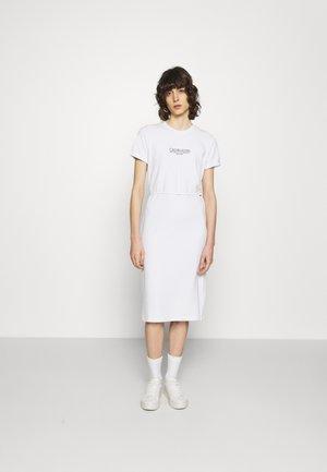 LOGO DRESS - Jersey dress - bright white