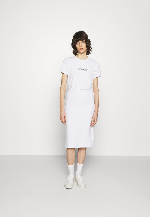 LOGO DRESS - Jerseyjurk - bright white