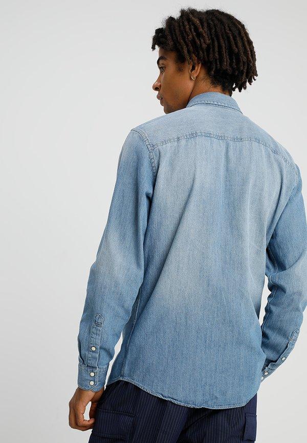 Jack & Jones JJESHERIDAN SLIM - Koszula - medium blue denim/niebieski Odzież Męska RNUG