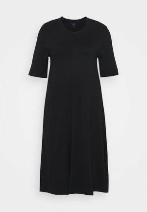 A LINE DRESS - Jerseyklänning - black