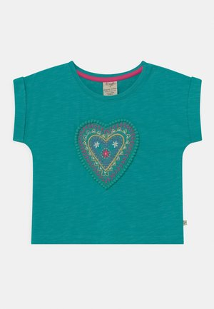 SOPHIA SLUB LOVE HEART - Print T-shirt - jewel