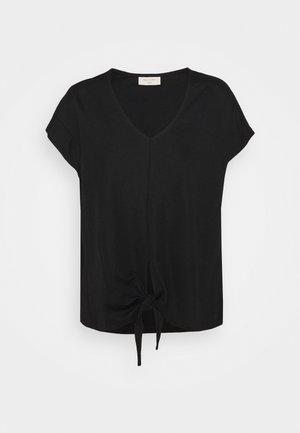 BOW TEE - Print T-shirt - black