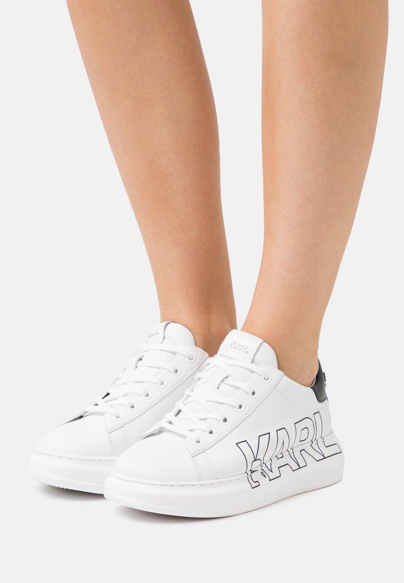 KARL LAGERFELD - KAPRI OUTLINE LOGO - Trainers - white