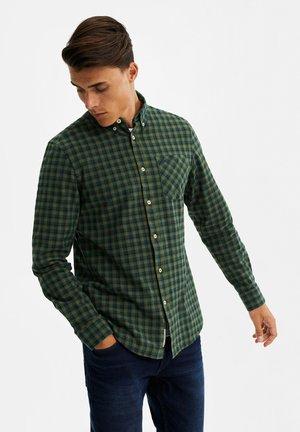 SLIM FIT GERUIT OVERHEMD - Shirt - dark green