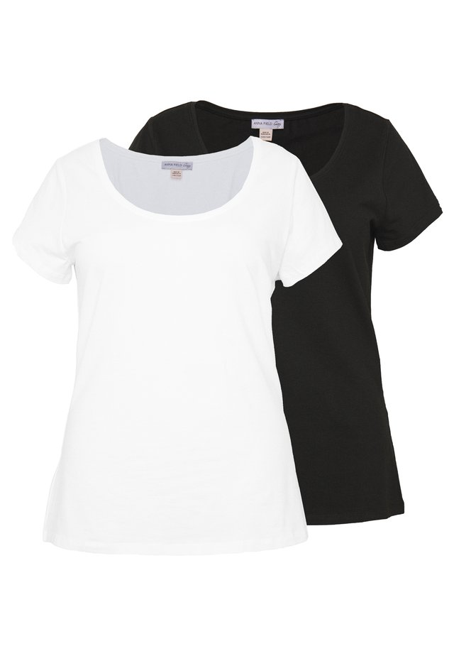 T-shirt basique - black, white