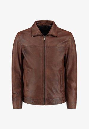 KENT - Leren jas - brown