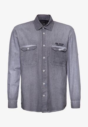 Overhemd - stahlgrau