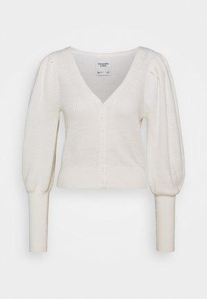 SWIRLY CABLE SHORT CARDI - Cardigan - cream