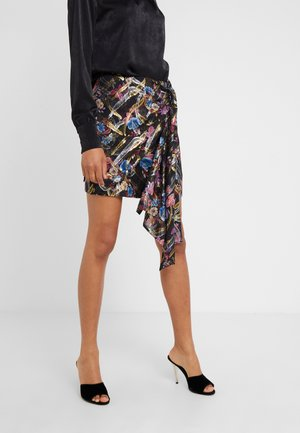 PENDERE GONNA  - Mini skirt - multi/nero/fuchsia