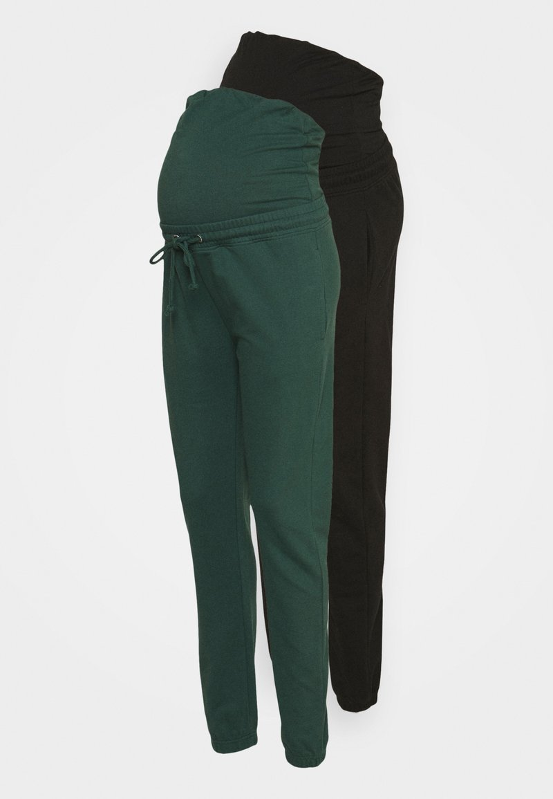 Missguided Maternity - MATERNITY BASIC JOGGER 2 PACK - Tracksuit bottoms - black/green