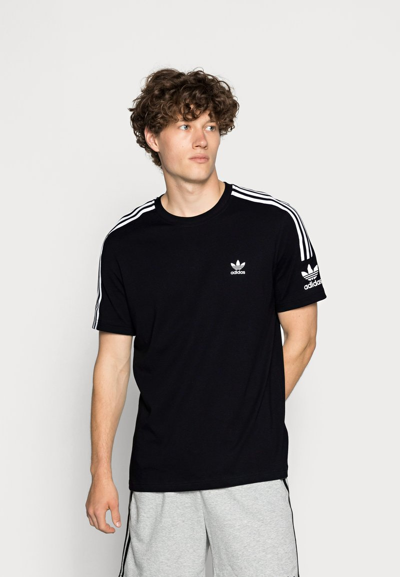 adidas Originals - TECH TEE - Printtipaita - black