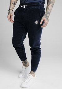 SIKSILK - ALLURE CUFFED PANTS - Tracksuit bottoms - navy - 0