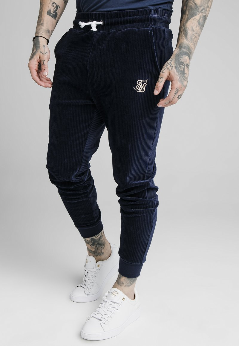 SIKSILK - ALLURE CUFFED PANTS - Tracksuit bottoms - navy