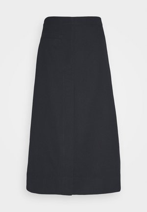 SIDE POCKET SKIRT FRONT SLIT - A-line skjørt - midnight