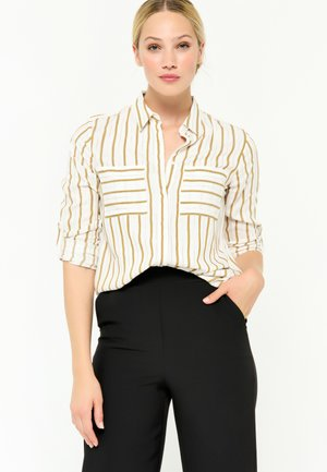 WITH GOLDEN AND STRIPES - Button-down blouse - ocher