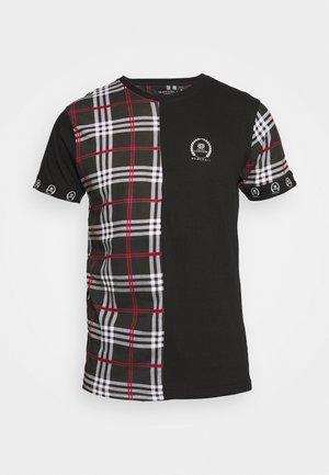 LAUREL - T-shirt print - jet black/white/red/black