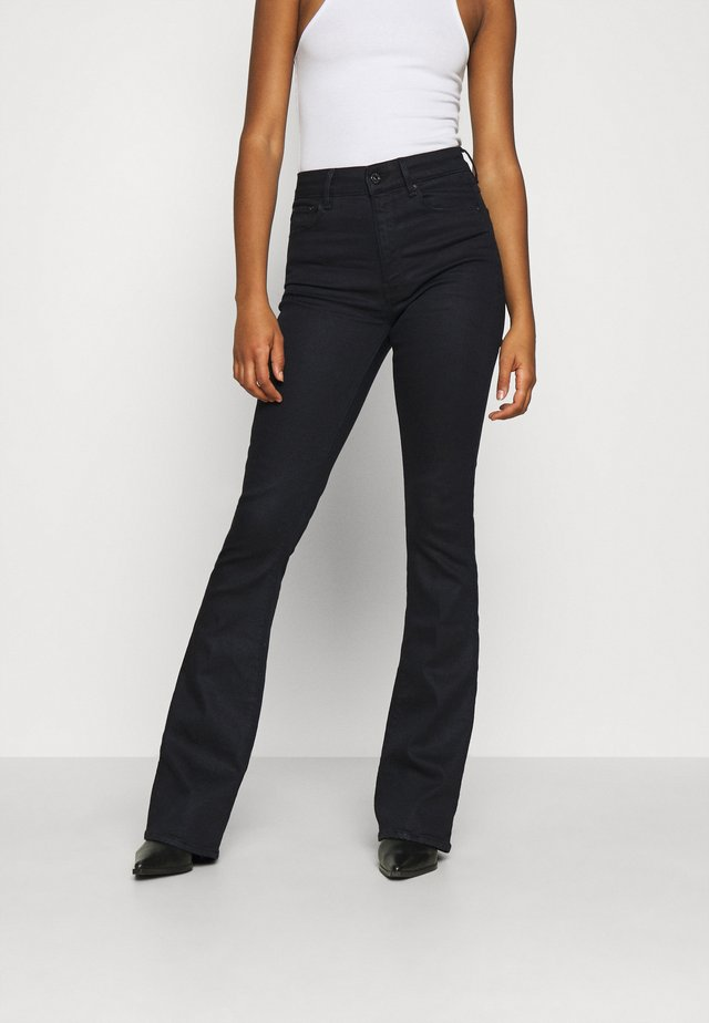 3301 HIGH FLARE - Jeans a zampa - black metalloid cobler