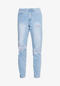 Missguided - RIOT HIGHWAISTED ROLL KNEE MOM - Relaxed fit jeans - lightwash - 0