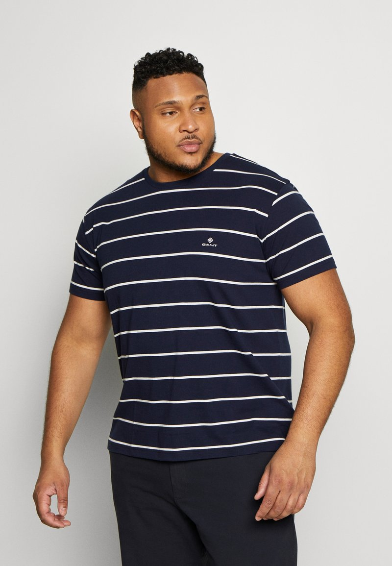 GANT - BRETON STRIPE - T-shirt med print - evening blue