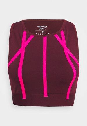 STUDIO TAPED REECYCLED YOGA - Sports shirt - maroon