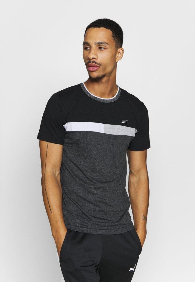 Camiseta estampada - black/melange