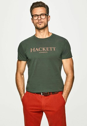 HACKETT LDN - Print T-shirt - deep forest
