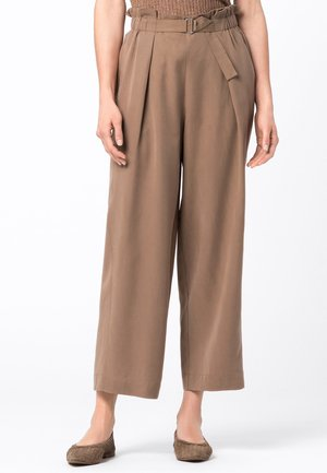 HOSE WEITE HOSE AUS TENCEL - Trousers - cappuccino
