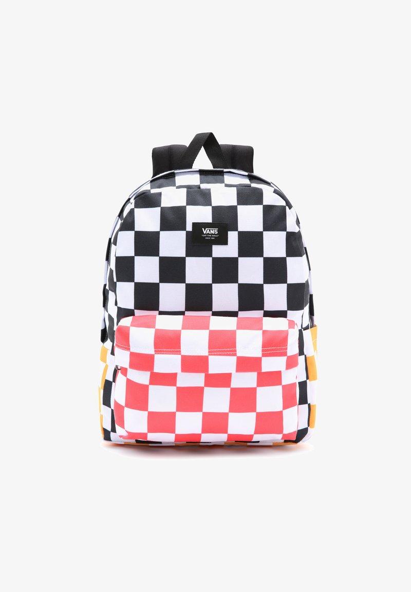 Vans - OLD SKOOL - Rucksack - black/saffron checkerbrd