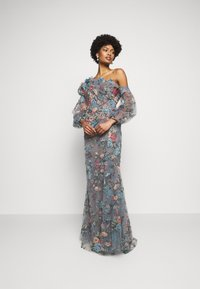 Marchesa - OFF THE SHOULDER GOWN - Společenské šaty - smokey blue - 1