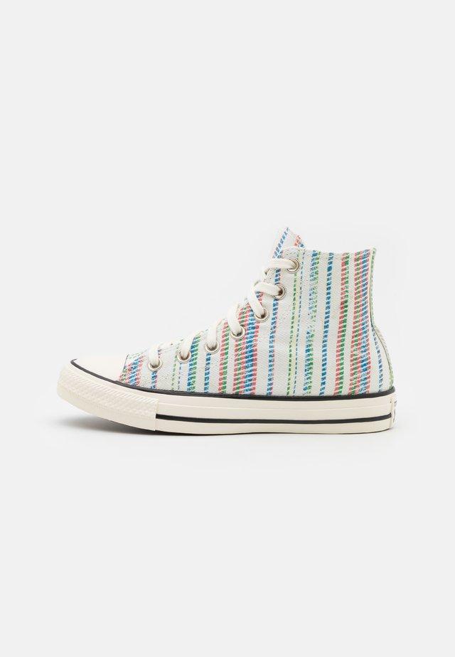 CHUCK TAYLOR BEACH STRIPES UNISEX - Sneakers hoog - egret/egyptian blue