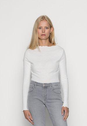 LONGSLEEVE - Long sleeved top - pearl white