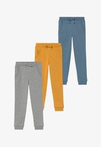 Friboo - 3 PACK  - Pantalones deportivos - light grey melange/blue heaven - 3