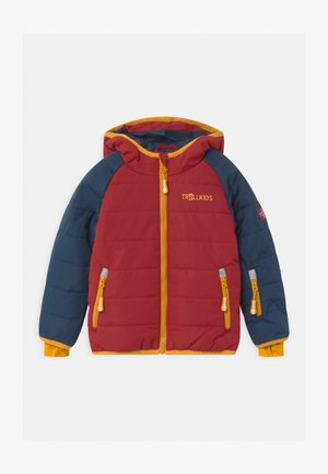 HAFJELL SNOW PRO UNISEX - Lyžařská bunda - mystic blue/rusty red/golden yellow