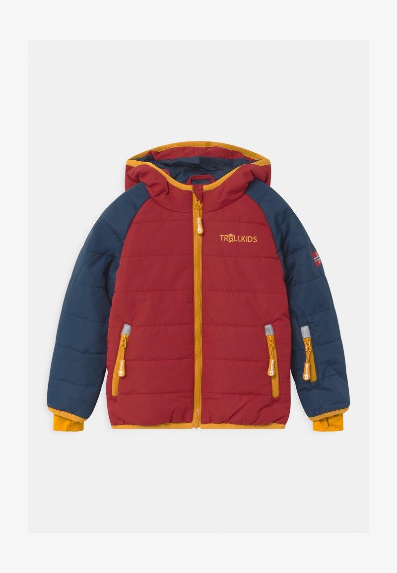 TrollKids - HAFJELL SNOW PRO UNISEX - Ski jacket - mystic blue/rusty red/golden yellow