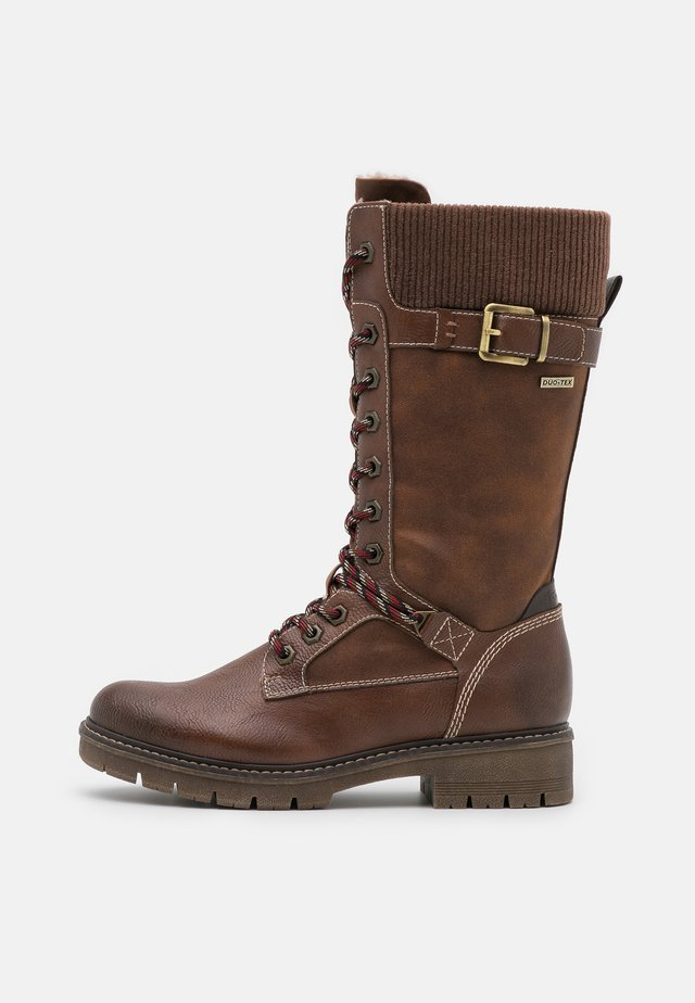 Winter boots - cognac