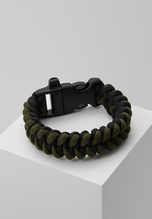 BRAIDED SAFETY BUCKLE - Náramek - green