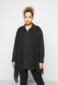 Evans - OVERLAY - Button-down blouse - black - 0
