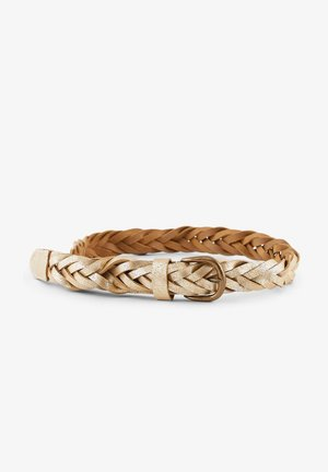 Braided belt - gold colour
