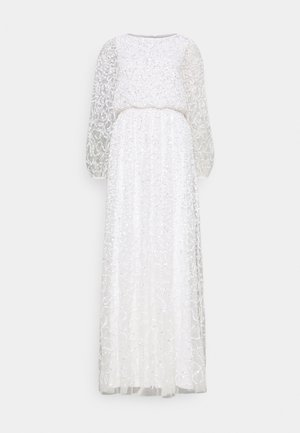 WAIST ALL OVER EMBELLISHED DRESS - Festklänning - white