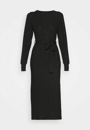 CUT AND SEW BELT MIDI - Jumper dress - black